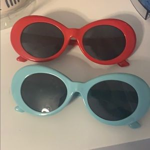 red and teal clout goggles